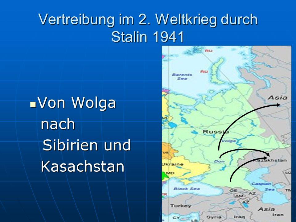 Von Wolga nach Von Wolga nachSibirien: Altai, Nowosibirsk, Altai, Nowosibirsk, Kemerowo und Kemerowo und Kasachstan. Kasachstan. Auswanderung von Fami