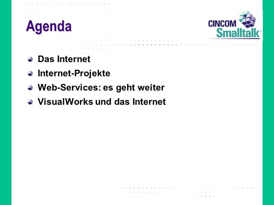 Agenda Das Internet Internet-Projekte Web-Services: es geht weiter VisualWorks und das Internet