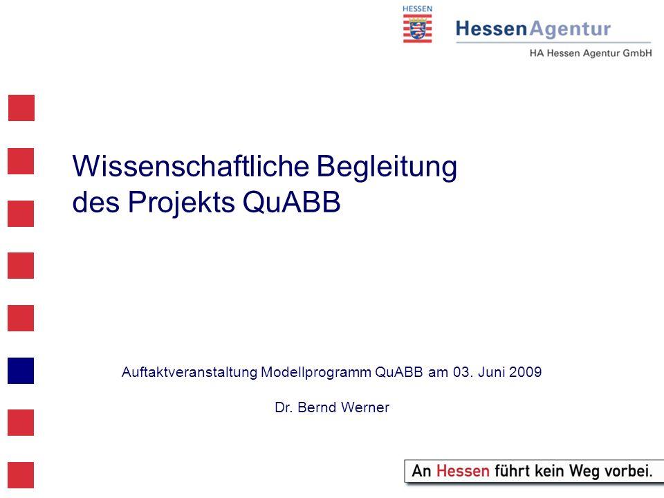 Wissenschaftliche Begleitung des Projekts QuABB Auftaktveranstaltung Modellprogramm QuABB am 03.