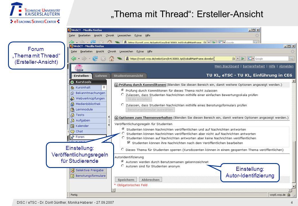 DISC / eTSC - Dr.