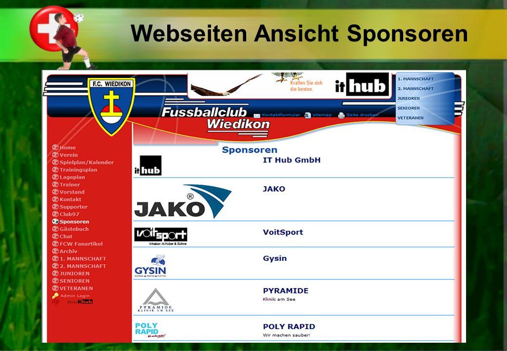 Webseiten Ansicht Sponsoren