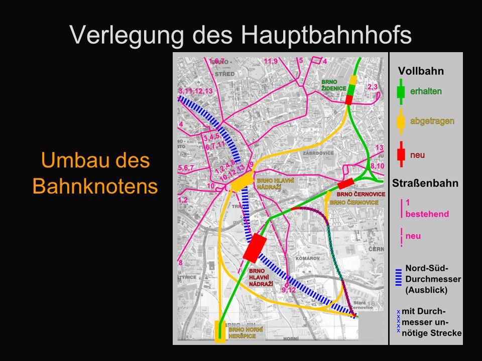 Verlegung des Hauptbahnhofs Umbau des Bahnknotens