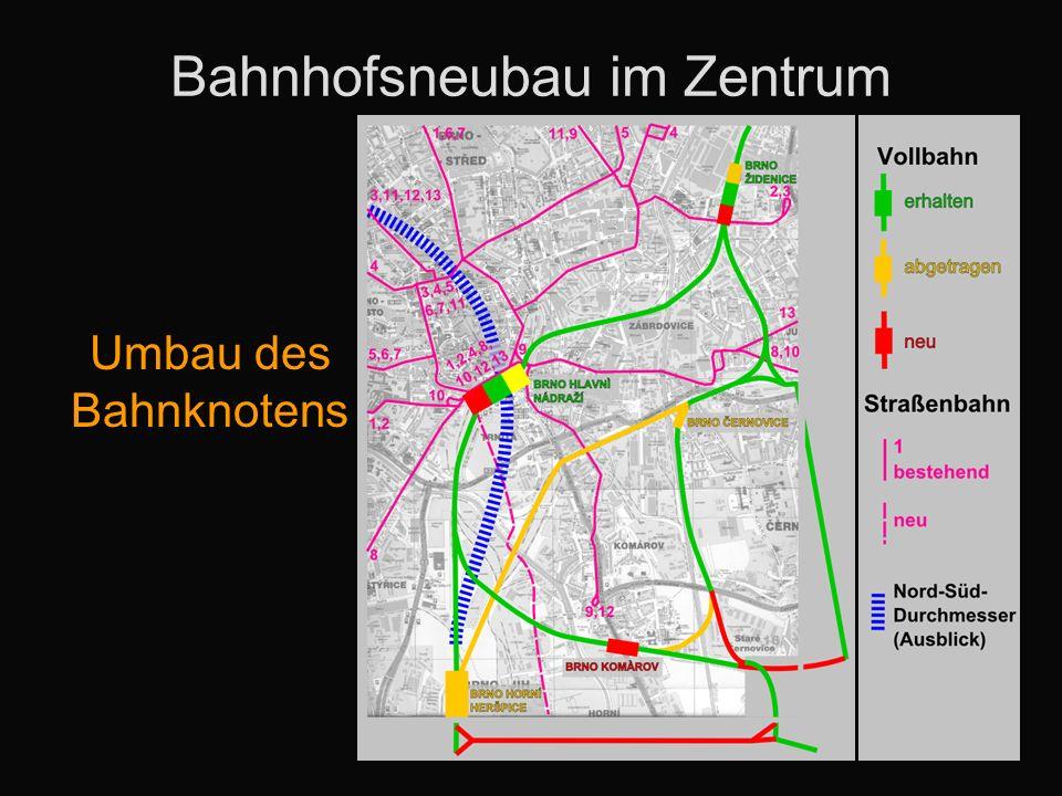 Bahnhofsneubau im Zentrum Umbau des Bahnknotens