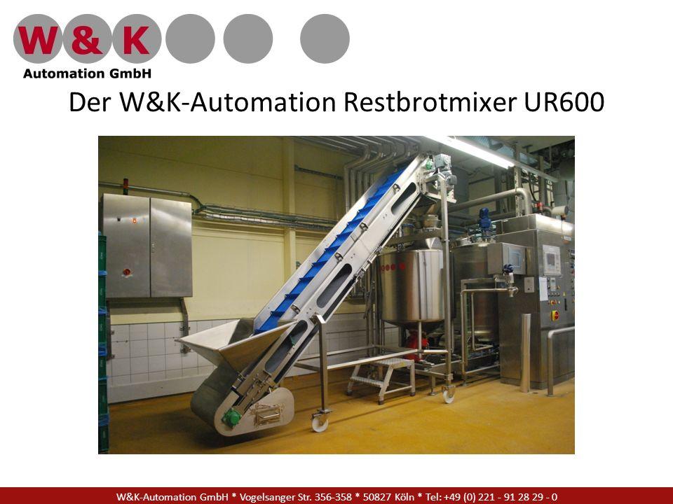 Der W&K-Automation Restbrotmixer UR600 W&K-Automation GmbH * Vogelsanger Str. 356-358 * 50827 Köln * Tel: +49 (0) 221 - 91 28 29 - 0