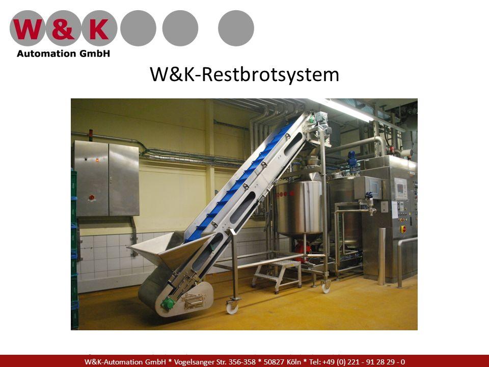 W&K Automation GmbH * Vogelsanger Str. 356-358 * 50827 Köln * Tel: +49 (0) 221 - 91 28 29 - 17 W&K-Restbrotsystem W&K-Automation GmbH * Vogelsanger St