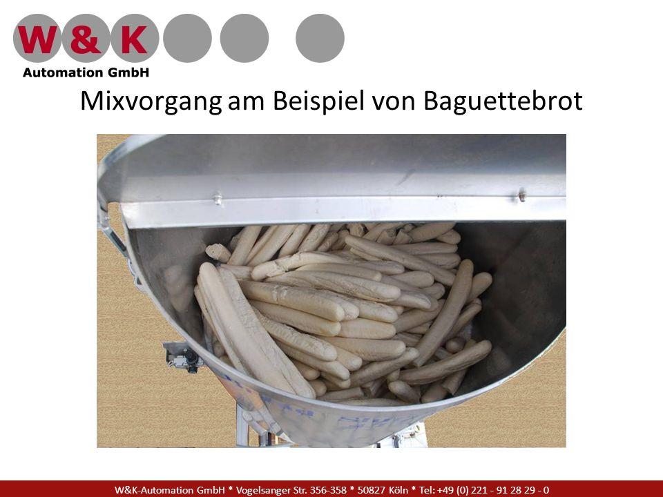 Mixvorgang am Beispiel von Baguettebrot W&K-Automation GmbH * Vogelsanger Str. 356-358 * 50827 Köln * Tel: +49 (0) 221 - 91 28 29 - 0