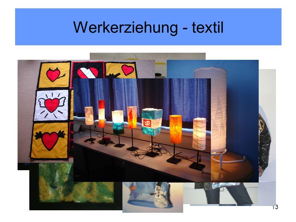 Werkerziehung - textil Kir/Pan 201113