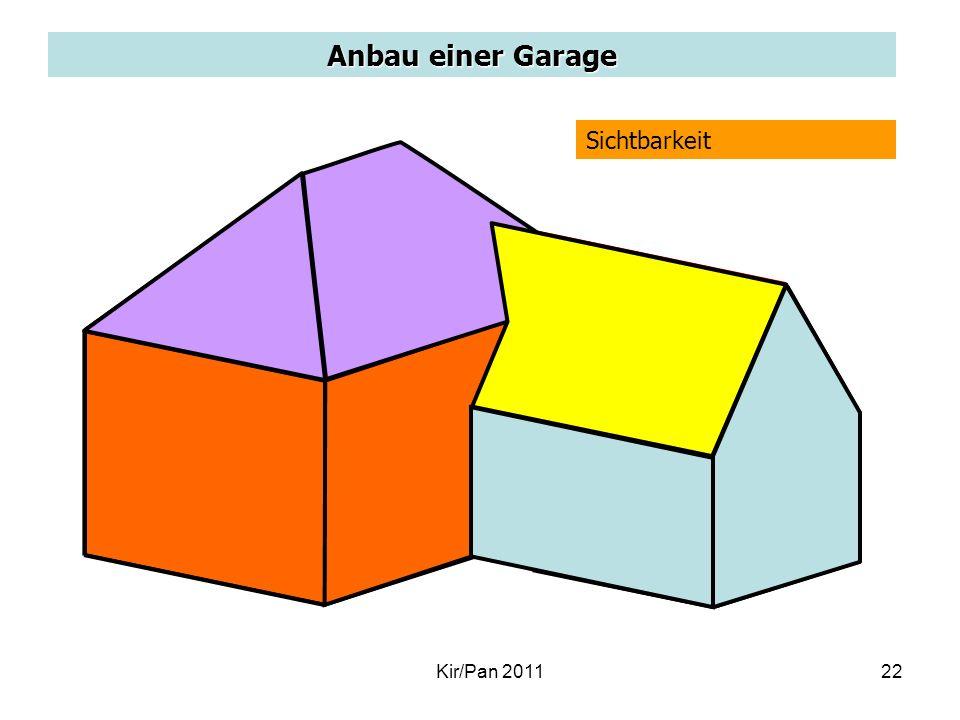 Anbau einer Garage Sichtbarkeit P Kir/Pan 201122