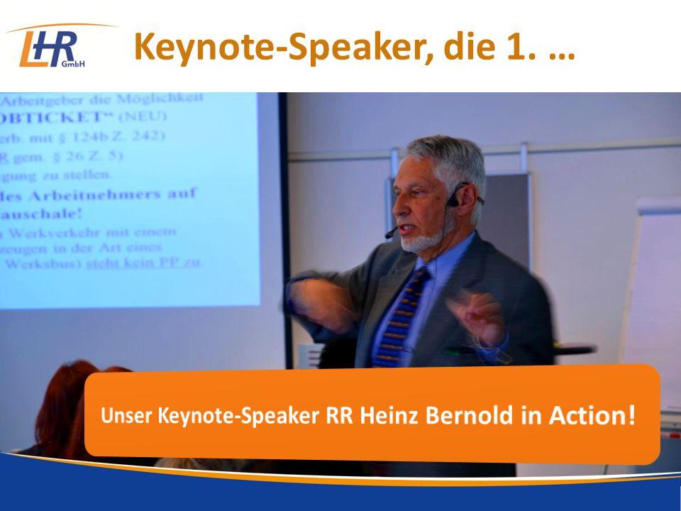 Keynote-Speaker, die 1. …