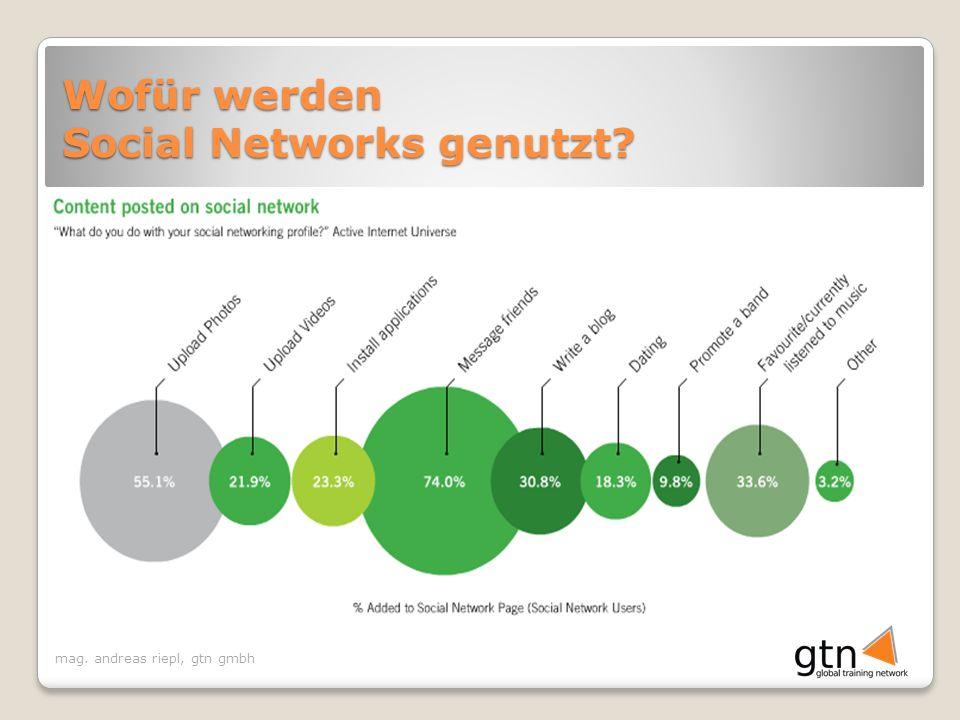 mag. andreas riepl, gtn gmbh Wofür werden Social Networks genutzt
