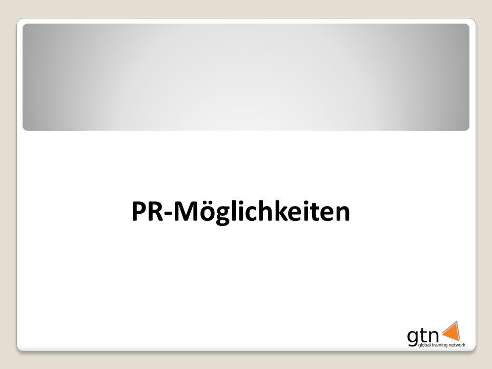PR-Möglichkeiten