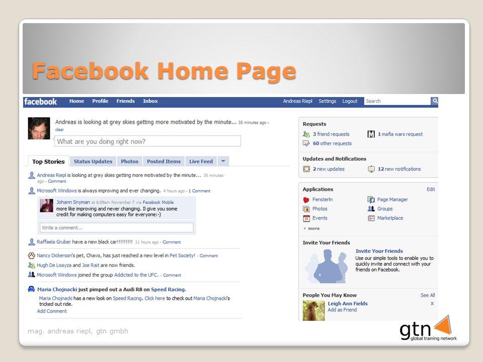 mag. andreas riepl, gtn gmbh Facebook Home Page