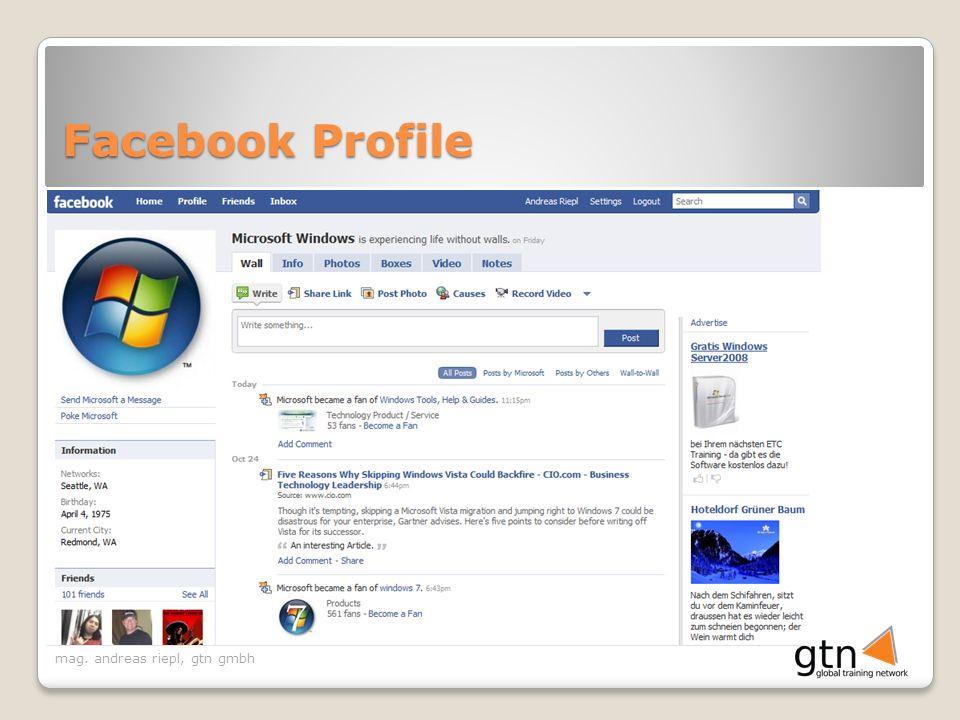 mag. andreas riepl, gtn gmbh Facebook Profile
