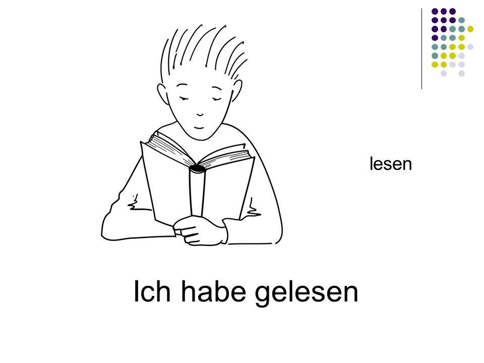 Ich habe gelesen lesen