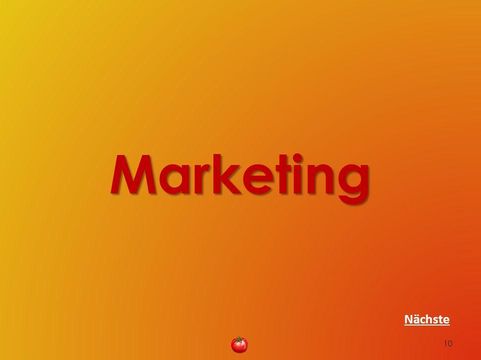 Marketing 10 Nächste