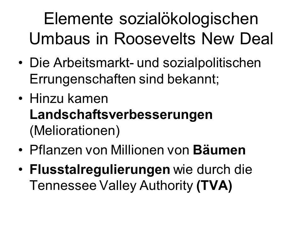 Herausforderung der US-Oligarchie TVA = Konversion von Nitratproduktion; Grosser Erfolg – Symbol des New Deal Gegenkampagne: NO MORE VALLEYS TO BOSS (Alexander, Econ.Geogr.