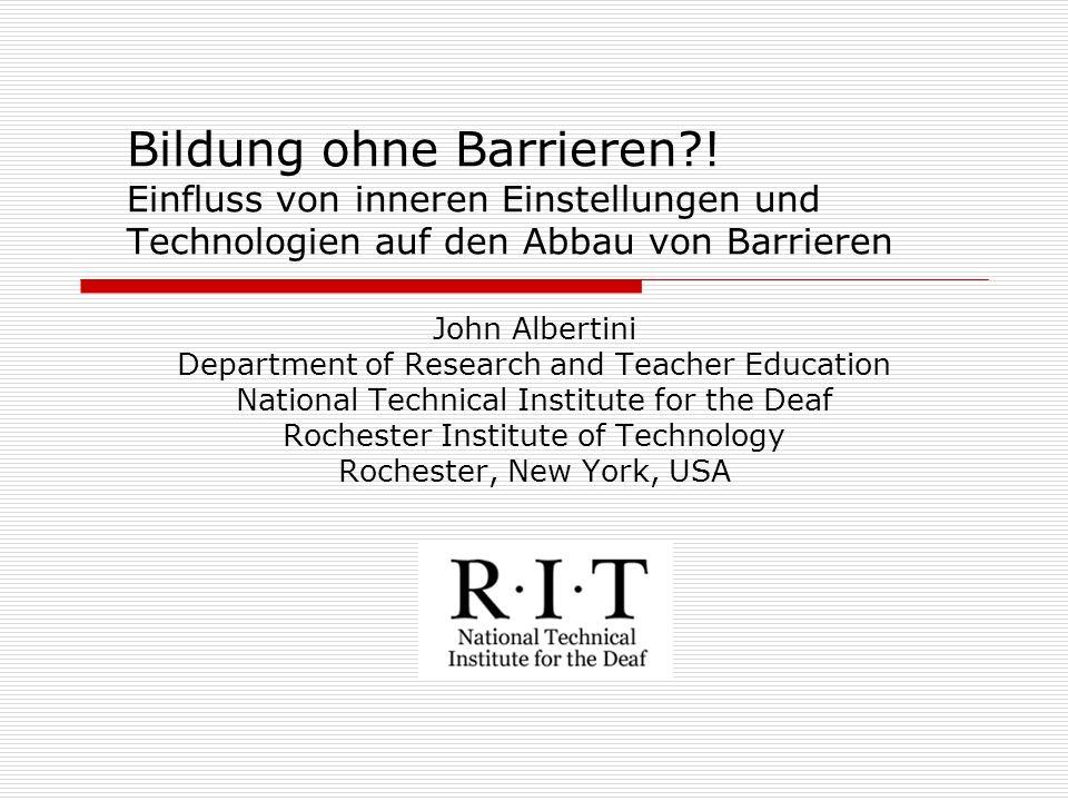 Bildung ohne Barrieren?.