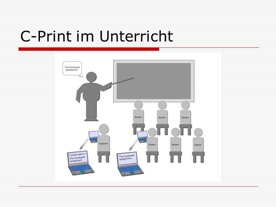 C-Print im Unterricht