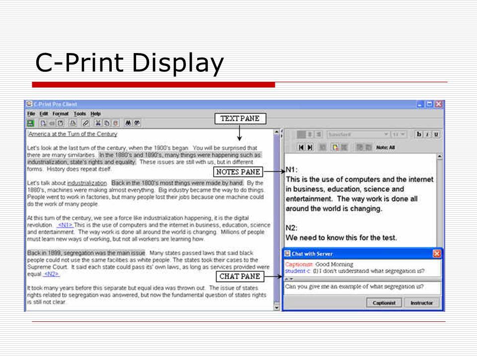 C-Print Display