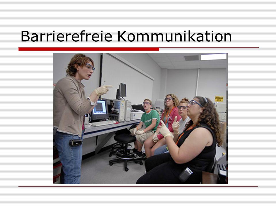 Barrierefreie Kommunikation