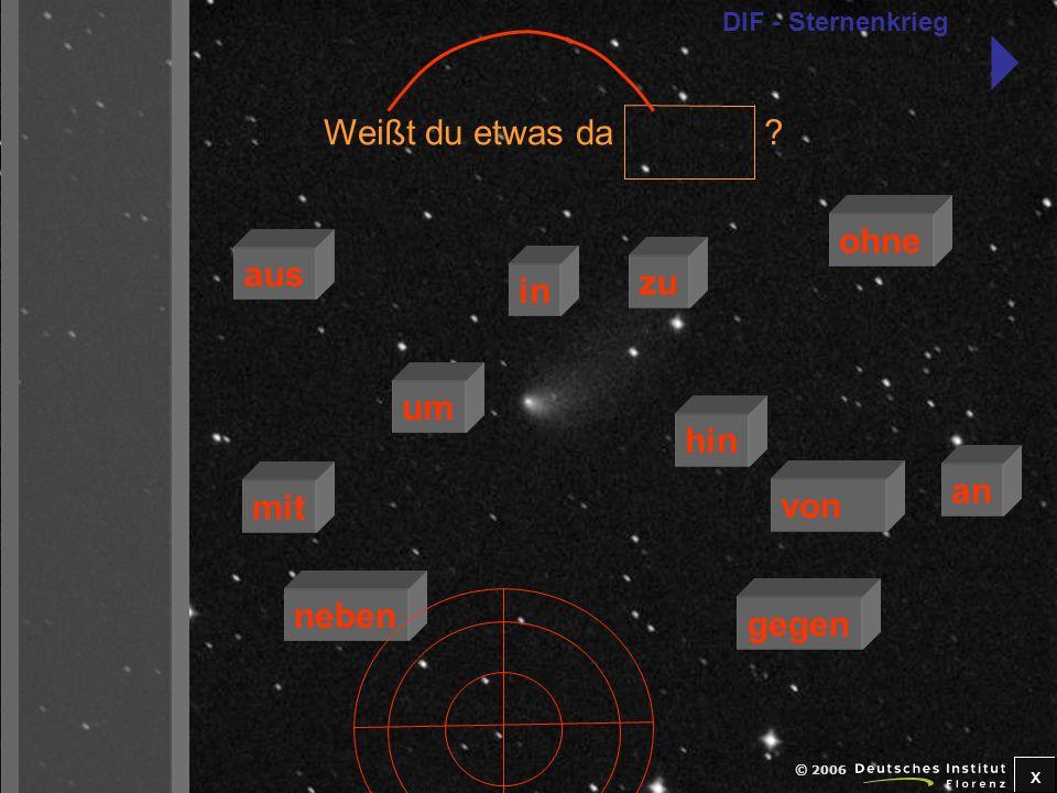 x © 2006 dieser Arbeit.ich helfe dir gerne bei zu mit aus an von um neben in gegen ohne DIF - Sternenkrieg