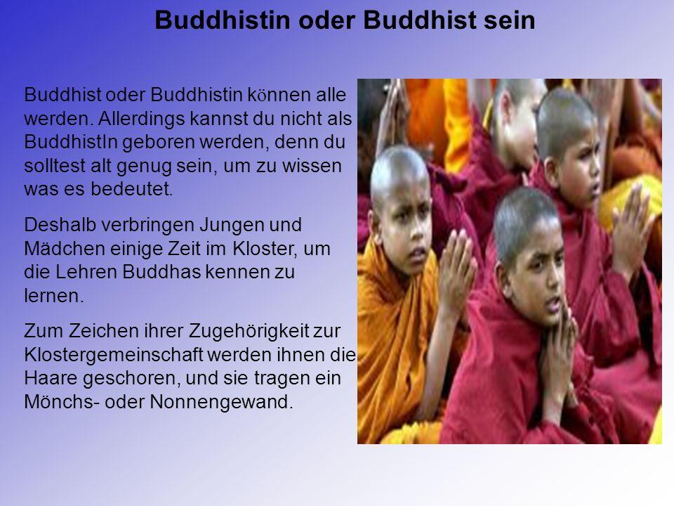 Buddhistin oder Buddhist sein Buddhist oder Buddhistin k ö nnen alle werden.