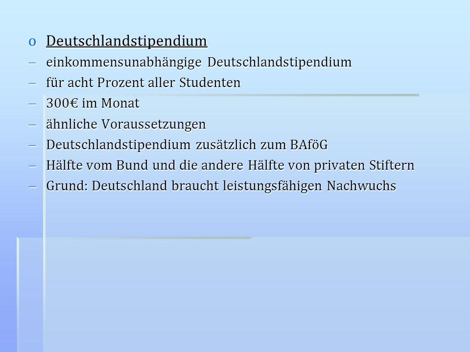 oDeutschlandstipendium einkommensunabhängige Deutschlandstipendium einkommensunabhängige Deutschlandstipendium für acht Prozent aller Studenten für ac