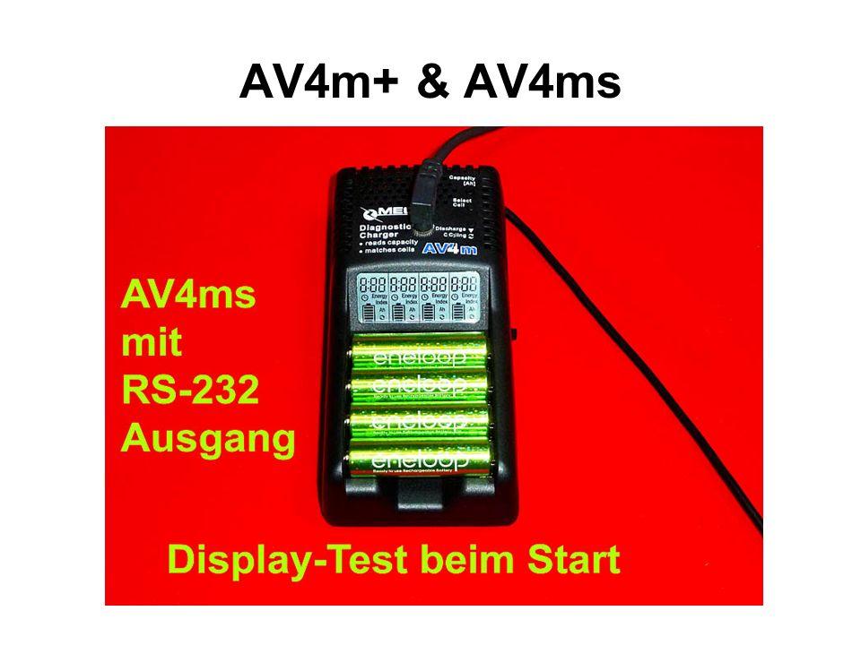 Einfachste Bedienung Individuelle Temperatur-Überwachung AV4ms mit DATEN-Ausgabe AV4m+ ist vollkommen identisch, hat aber keine Datenausgabe Ton-Signalisierung: 7-fach einstellbare Morse-Töne mit 3 Lautstärken und AUS