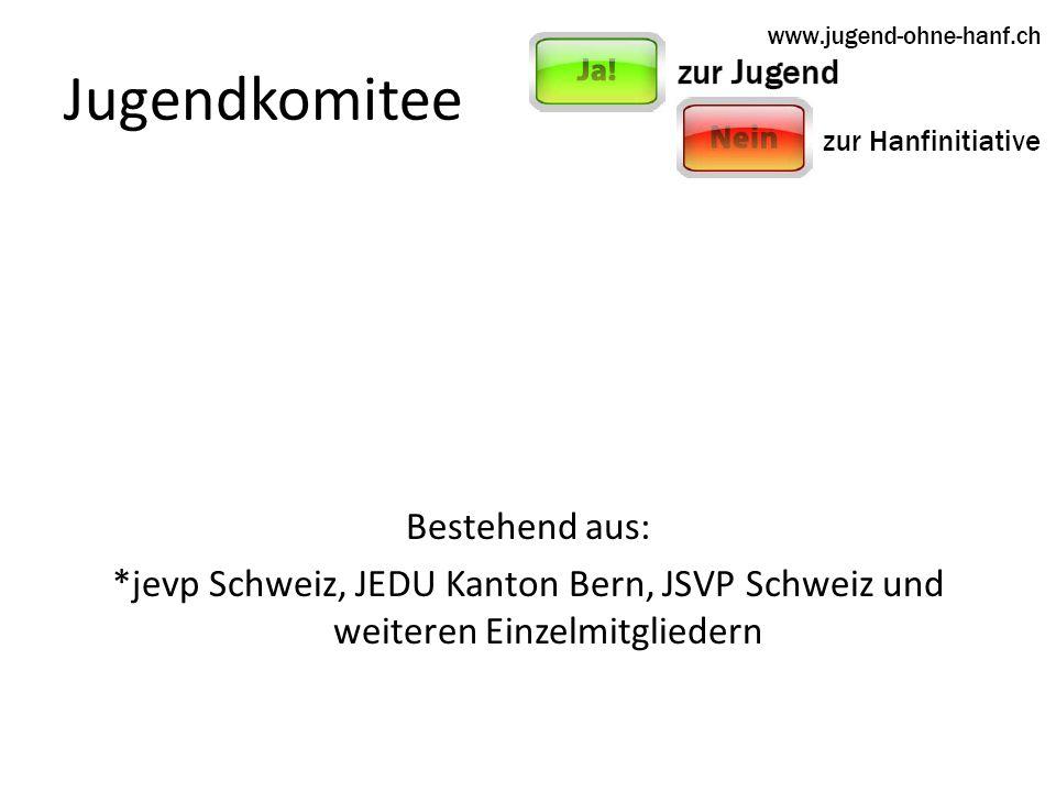 Jugendkomitee Bestehend aus: *jevp Schweiz, JEDU Kanton Bern, JSVP Schweiz und weiteren Einzelmitgliedern