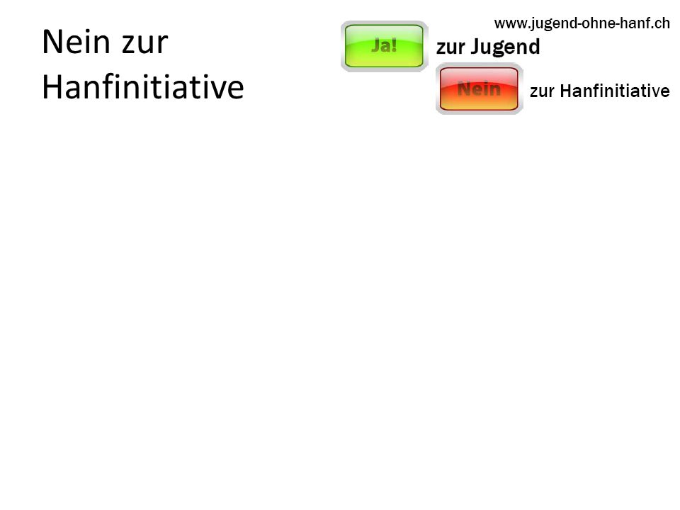 Nein zur Hanfinitiative