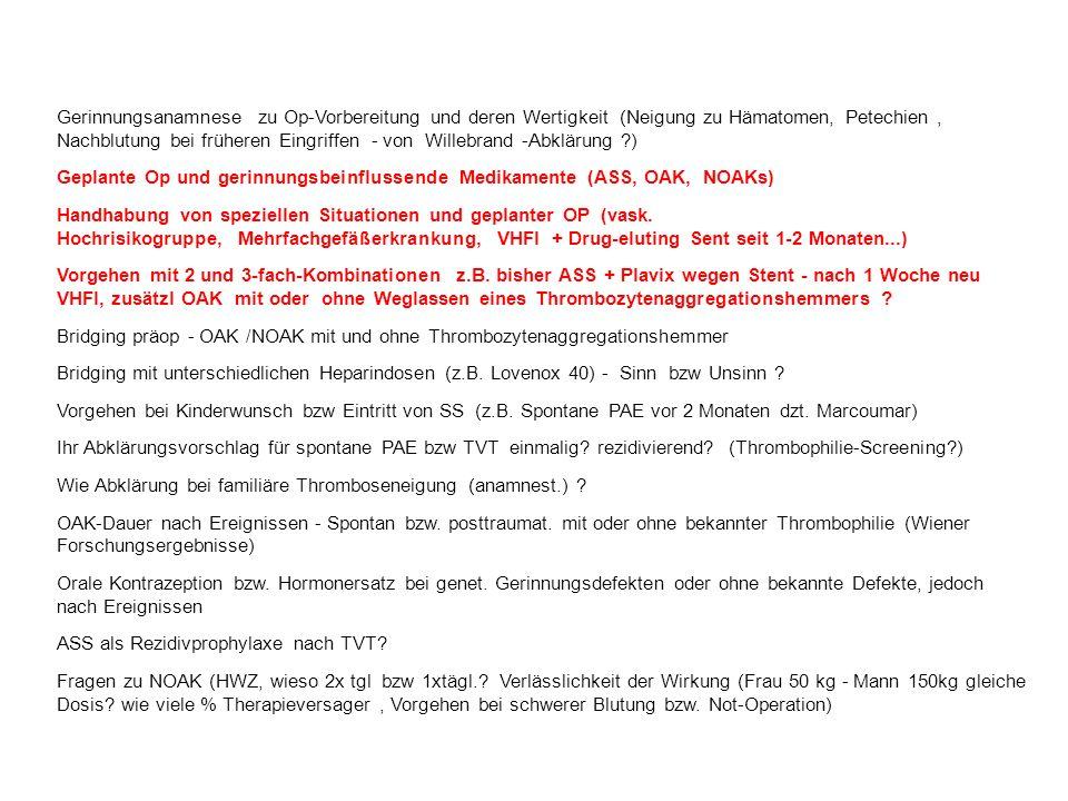 VTE und weibliche Hormone Z.n. VTE - Ki gg.