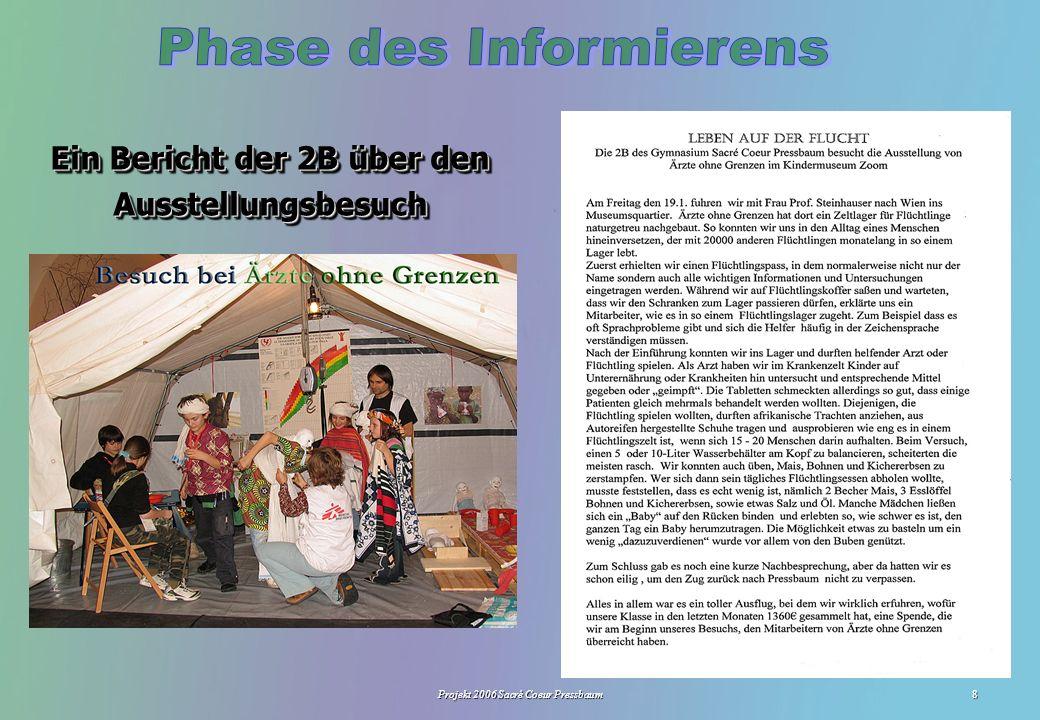 Projekt 2006 Sacré Coeur Pressbaum8 Ein Bericht der 2B über den Ausstellungsbesuch LGF