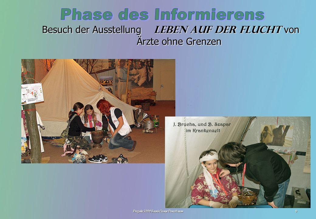 Projekt 2006 Sacré Coeur Pressbaum9 Besuch der Ausstellung Leben auf der Flucht von Ärzte ohne Grenzen LGF