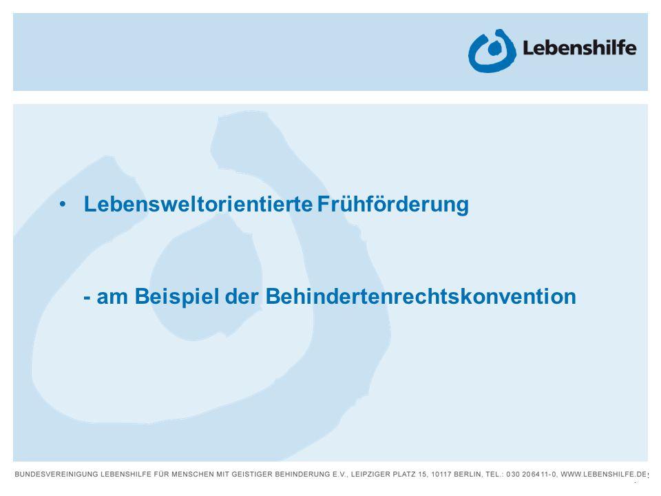 2 | Lebensweltorientierte Frühförderung - am Beispiel der Behindertenrechtskonvention