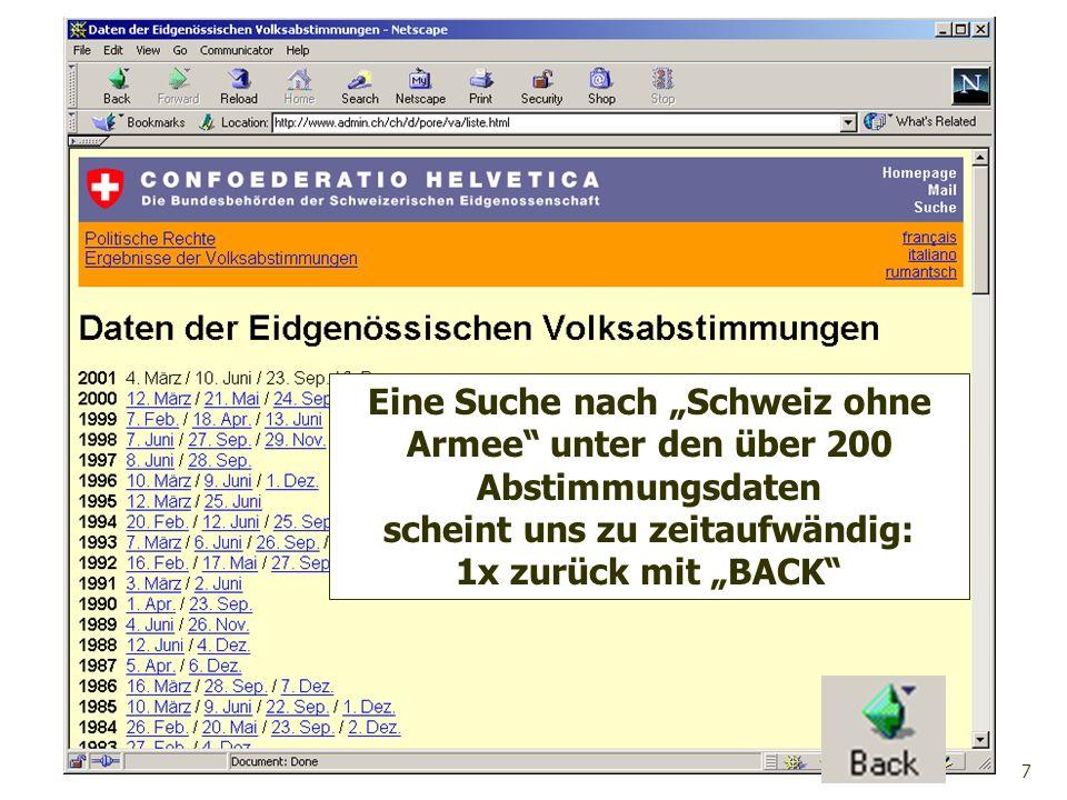 18 Wir schreiben eine Backtracking Prozedur boolean FindeLoesung(int index, Lsg loesung, int aktX, int aktY), um in einem Labyrinth mit KxL Feldern vom Start zum Ziel einen Weg zu finden.