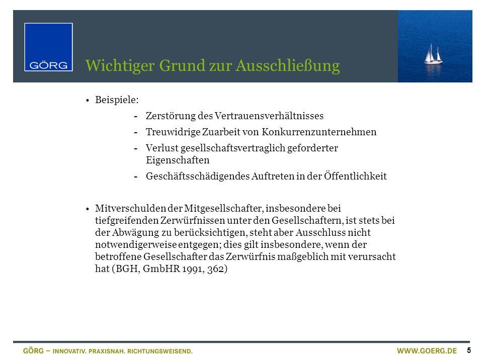 26 Sonderproblem: MoMiG und Rechtsfolgen der Einziehung RegBegr.