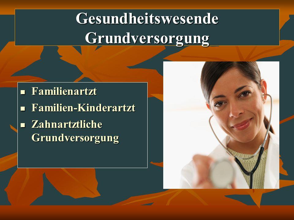 Gesundheitswesende Grundversorgung Familienartzt Familienartzt Familien-Kinderartzt Familien-Kinderartzt Zahnartztliche Grundversorgung Zahnartztliche