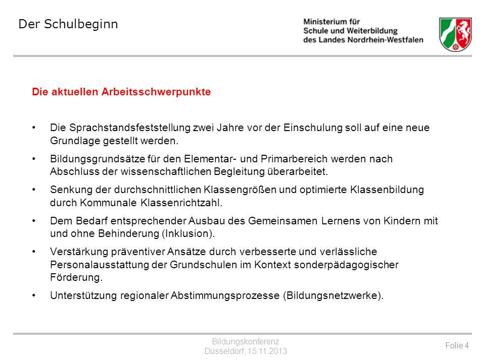 Bildungskonferenz Düsseldorf, 15.11.2013 2. Der Übergang auf die weiterführenden Schulen Folie 5