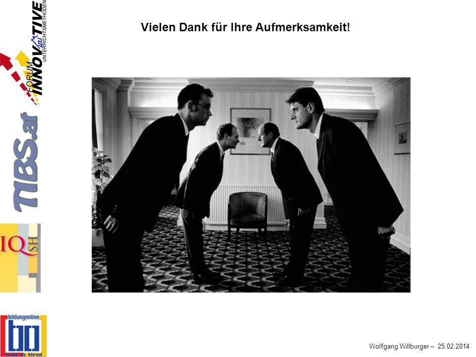 Wolfgang Willburger – 25.02.2014 Vielen Dank für Ihre Aufmerksamkeit!