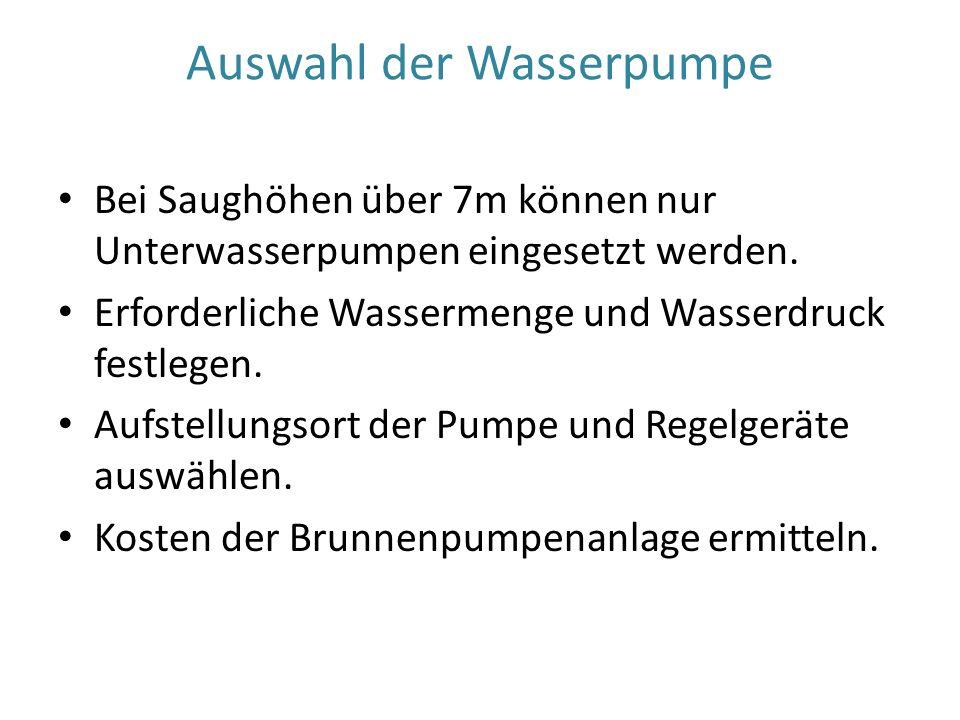 Kostenvergleich für Wasser aus Brunnen- öffentliches Netz Angenommener Wasserverbrauch für vier Personen: 150 m3 pro Jahr Wasserfilter müssen in beiden Fällen gereinigt oder getauscht werden.