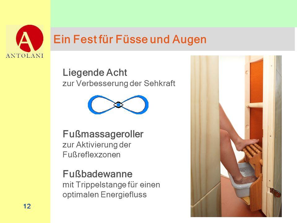 12 Ein Fest für Füsse und Augen Liegende Acht zur Verbesserung der Sehkraft Fußmassageroller zur Aktivierung der Fußreflexzonen Fußbadewanne mit Tripp
