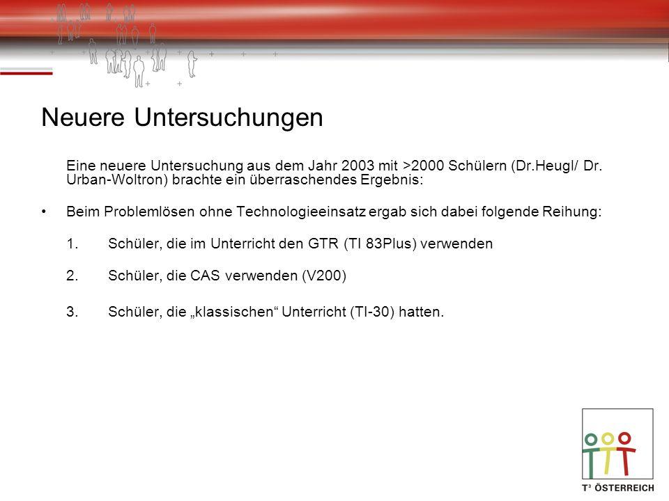 Erkenntnisse aus dem österreichischen Derive-Projekt Das Derive-Projekt (Leitung: Dr.