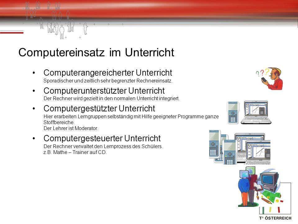 Der Lehrplan (HAK 2004) Der normale Lehrplan für die HAK gibt die Verpflichtung für den Einsatz von Technologie im Unterricht vor (Tabellenkalkulation