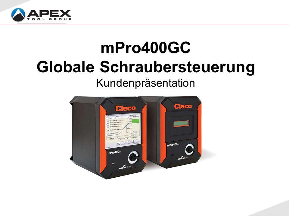 mPro400GC Globale Schraubersteuerung Kundenpräsentation