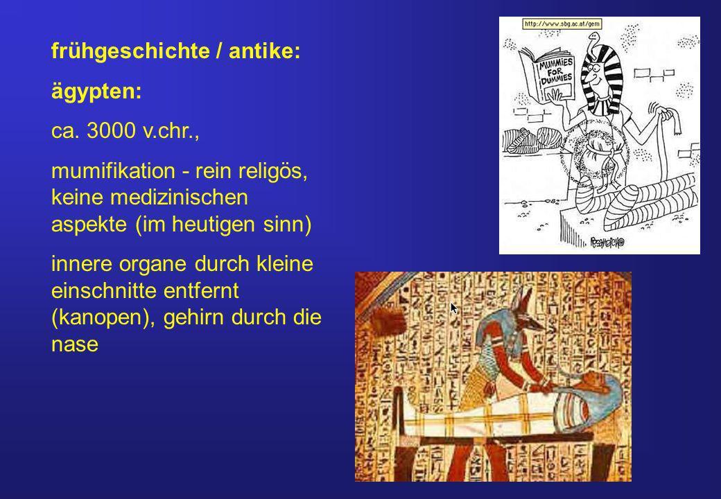 frühgeschichte / antike: ägypten: ca.