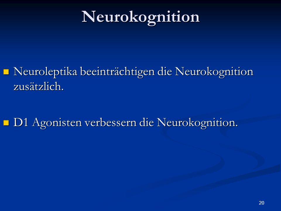 20Neurokognition Neuroleptika beeinträchtigen die Neurokognition zusätzlich.