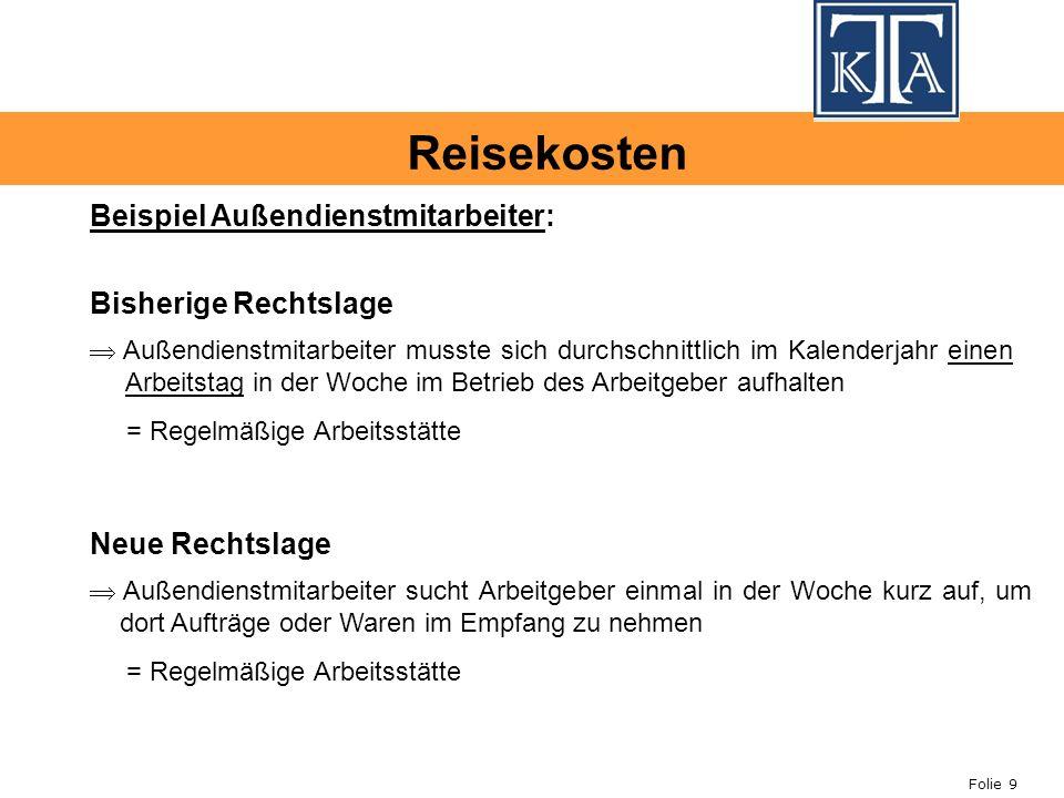 Folie 20 Übernachtungskosten ohne Einzelnachweis : Als eine der wichtigsten Änderungen sah der Entwurf der Lohnsteuer- Richtlinien 2008 zunächst die Streichung der Übernachtungspauschale vor.