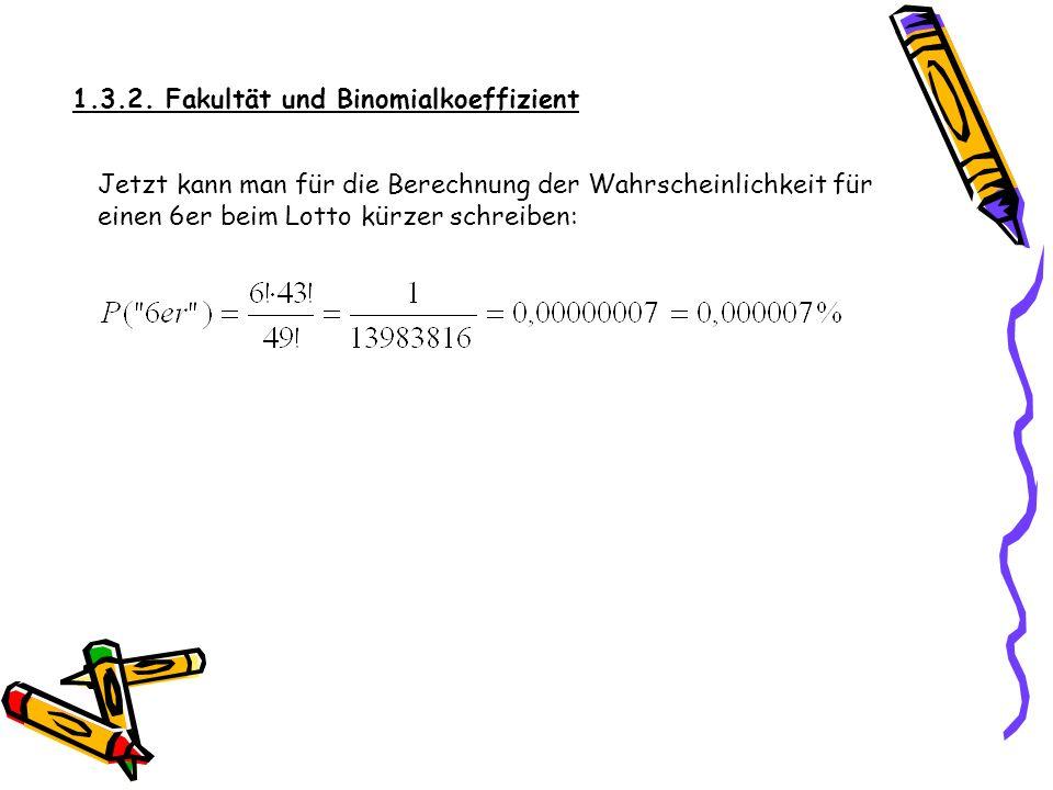 Zur Abkürzung von n · (n – 1) · (n – 2) · … · 3 · 2 · 1 schreibt man n! DEF: FAKULTÄT 0! = 1, 1! = 1 n! = n · (n – 1) · (n – 2) · … · 3 · 2 · 1