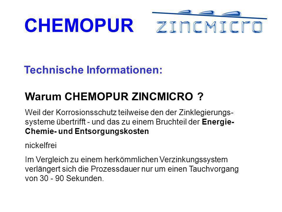 CHEMOPUR Technische Informationen: Warum CHEMOPUR ZINCMICRO .