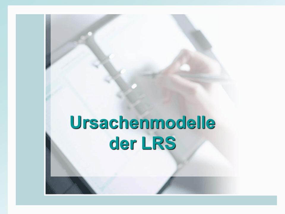 Ursachenmodelle der LRS